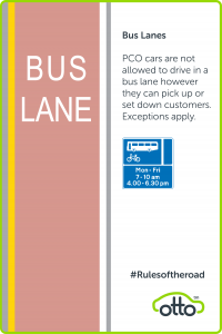 Bus Lane Rules for PCO Drivers